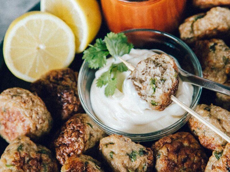 Tandoori kyllingefrikadeller i ovn