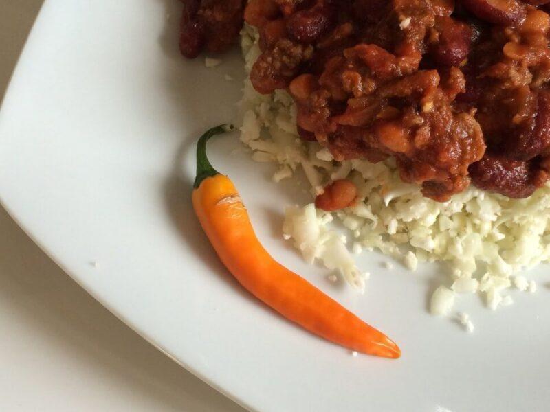 Chili Con Carne med blomkålsris